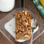 a pinterest image for apple maple baked oatmeal with text overlay