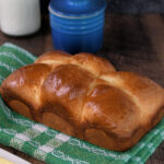 a pinterest image for classic brioche with text overlay