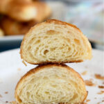 a pinterest image for croissants with text overlay