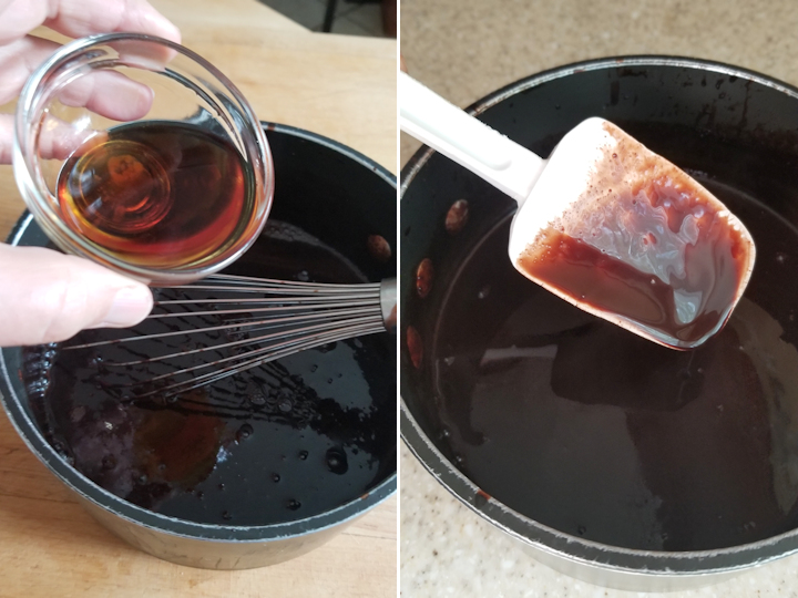 showing how to make chocolate sorbet base