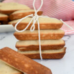 a pinterest image for financiers with text overlay