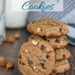 a pinterest image for peanut butter cookies with text overlay