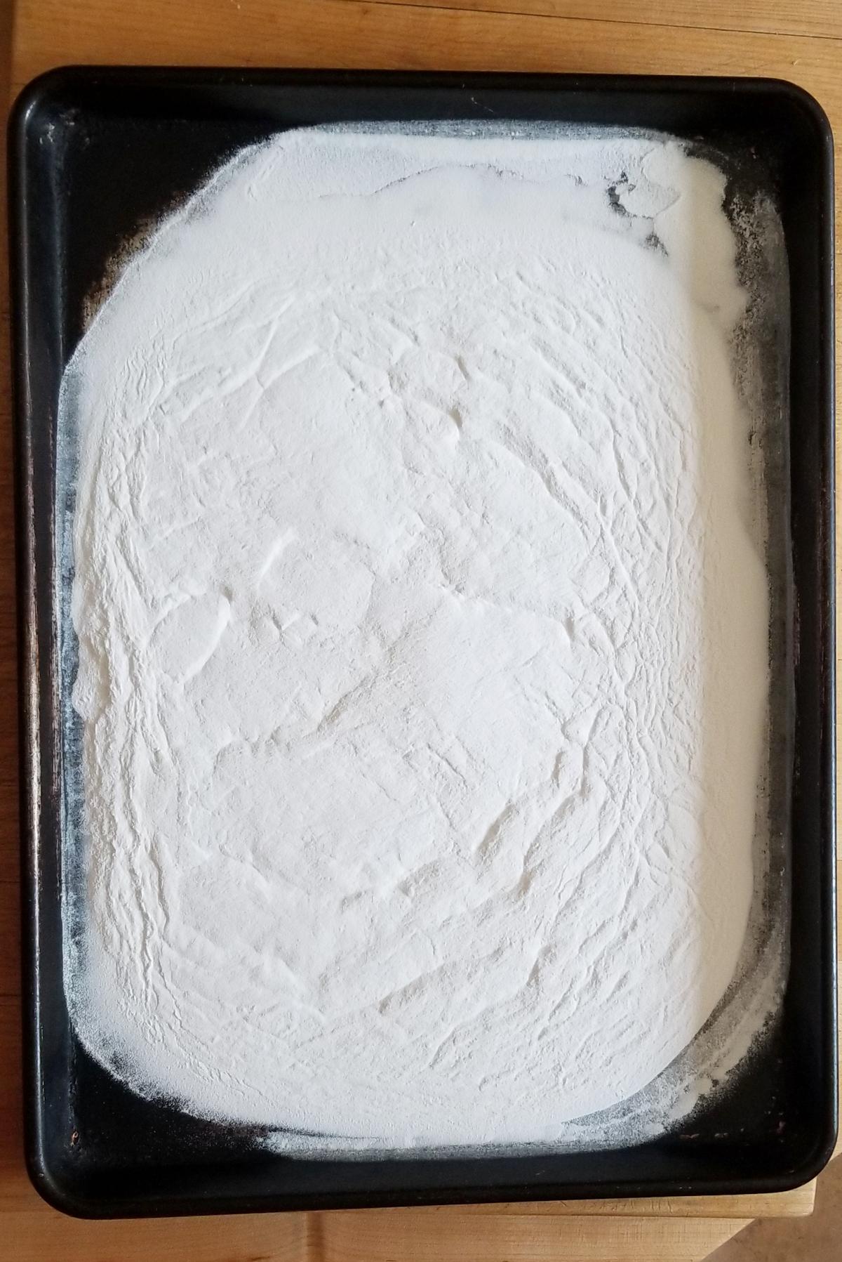 a tray of baking soda